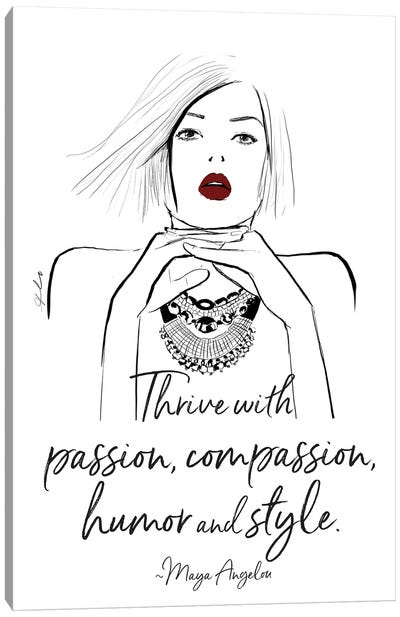 Thrive With Passion Canvas Art Print