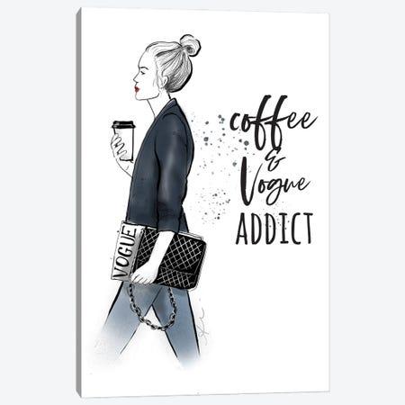 Coffee Magazine Canvas Print #ASN59} by Alison Petrie Canvas Art Print