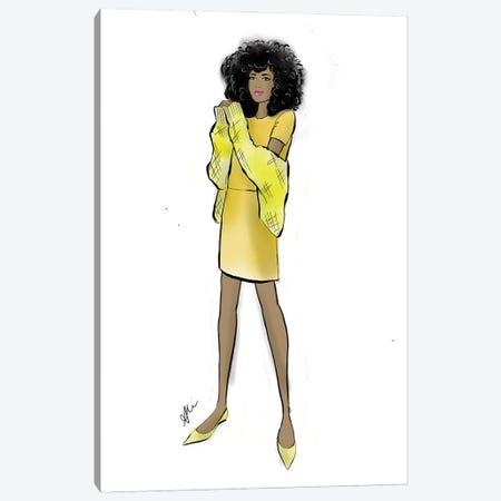 Yellow Chic Canvas Print #ASN73} by Alison Petrie Art Print