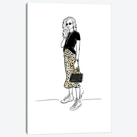 Leopard Lady Canvas Print #ASN78} by Alison Petrie Art Print