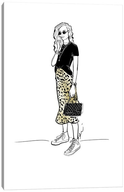 Leopard Lady Canvas Art Print