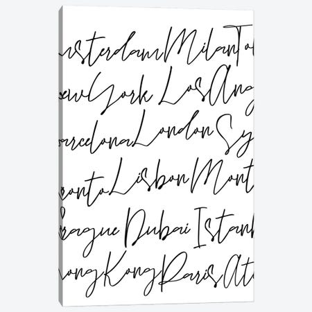 City Script Canvas Print #ASN79} by Alison Petrie Art Print