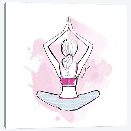 Yoga Canvas Print #ASN89} by Alison Petrie Canvas Wall Art