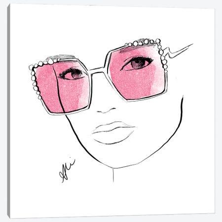 Pink Shades Canvas Print #ASN93} by Alison Petrie Canvas Art Print