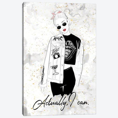 Actually I Can Canvas Print #ASN94} by Alison Petrie Canvas Artwork