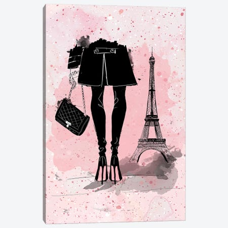 Pink In Paris Canvas Print #ASN95} by Alison Petrie Canvas Artwork