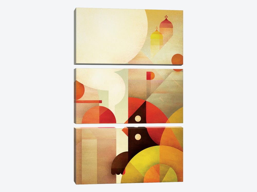 Canopy Bird by Antony Squizzato 3-piece Canvas Art