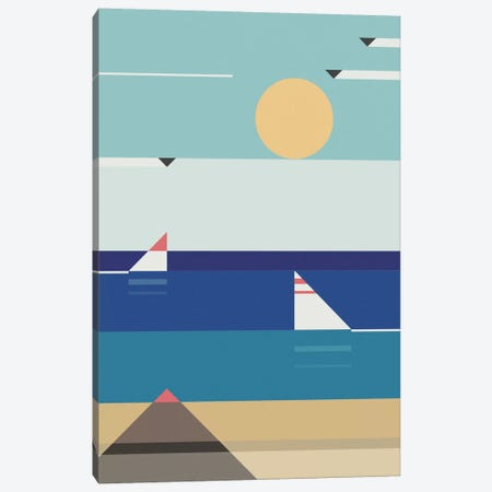 Quiet Sea Canvas Print #ASQ27} by Antony Squizzato Canvas Wall Art