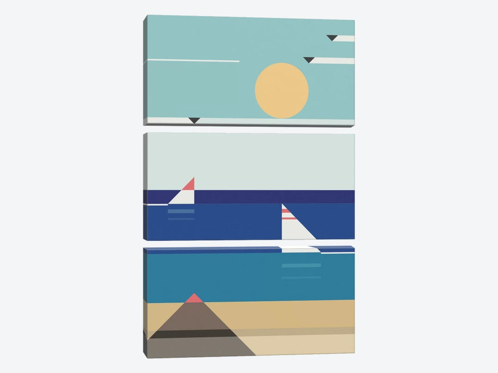 Quiet Sea by Antony Squizzato 3-piece Art Print
