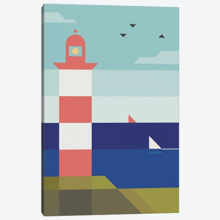 Lighthouse Canvas Print #ASQ2} by Antony Squizzato Canvas Print