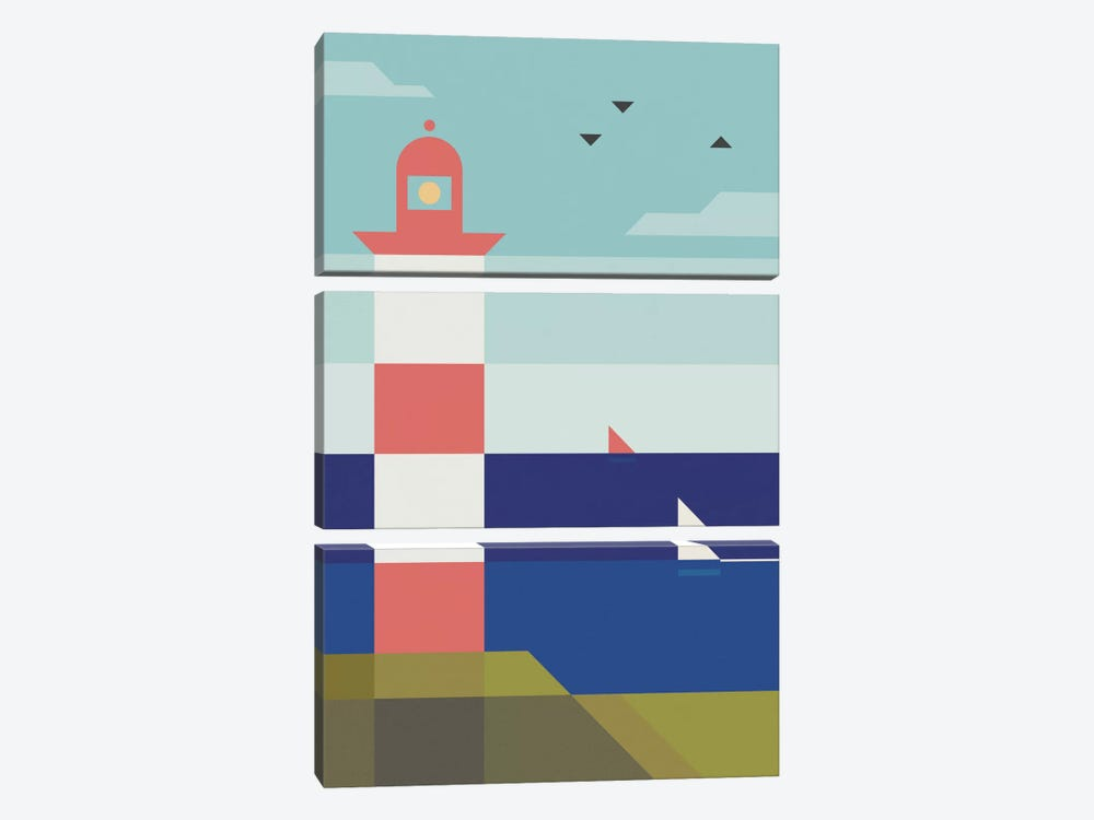 Lighthouse by Antony Squizzato 3-piece Canvas Art Print
