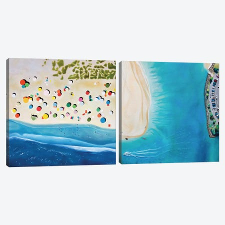 Beaches Diptych Canvas Print Set #ASQ2HSET001} by Antony Squizzato Canvas Wall Art