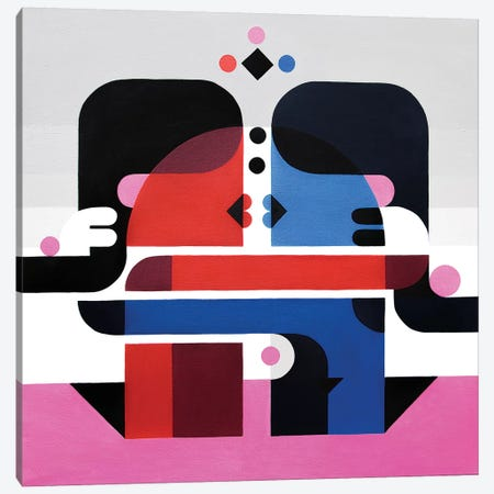 The Kiss Canvas Print #ASQ33} by Antony Squizzato Canvas Art
