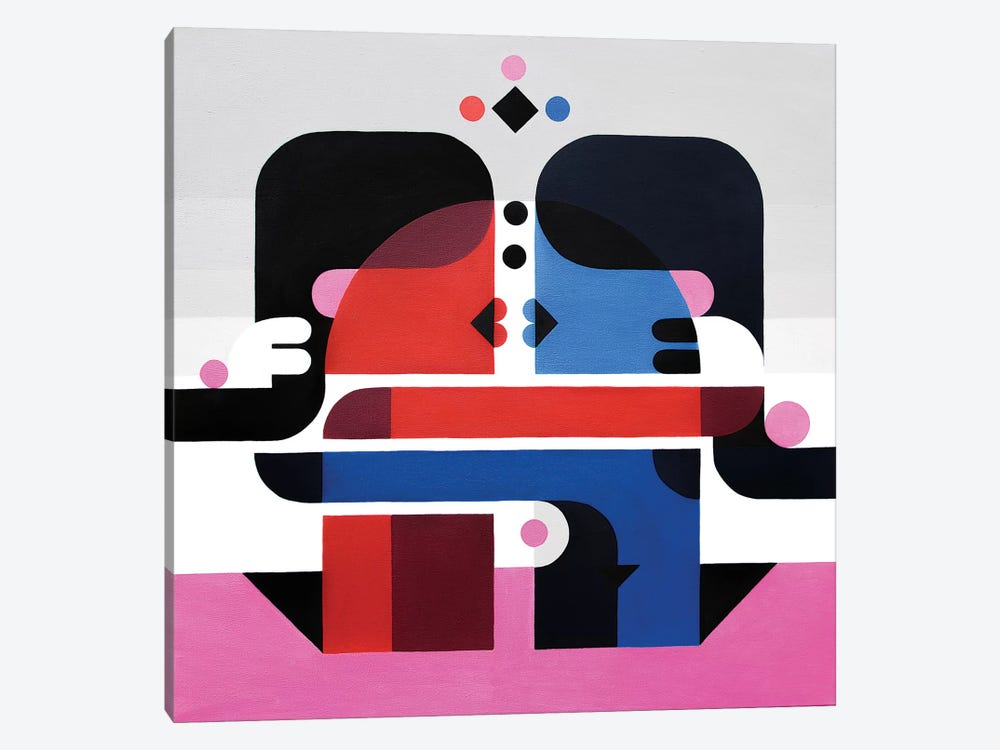 The Kiss by Antony Squizzato 1-piece Canvas Art