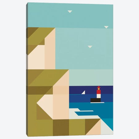 Sea Cliffs Canvas Print #ASQ38} by Antony Squizzato Canvas Artwork