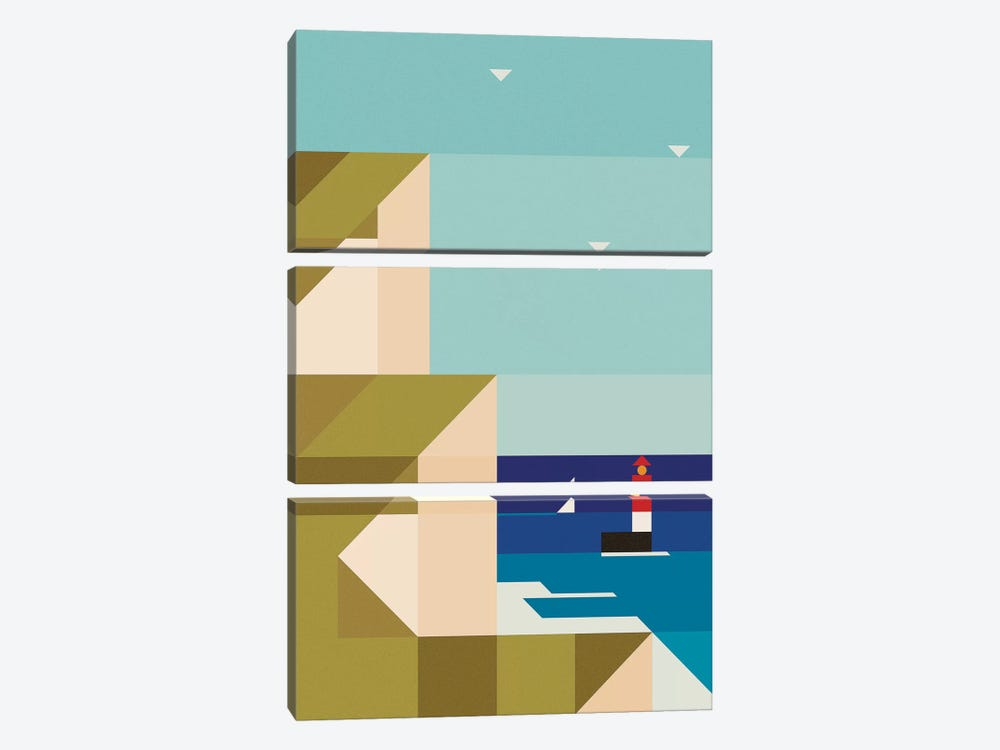 Sea Cliffs by Antony Squizzato 3-piece Canvas Print