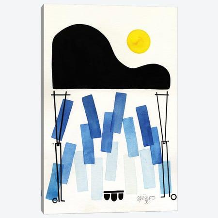 Blues Notes Canvas Print #ASQ40} by Antony Squizzato Art Print