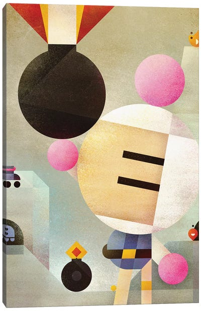 Bomberman Canvas Art Print