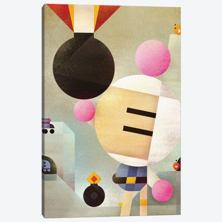 Bomberman Canvas Print #ASQ41} by Antony Squizzato Canvas Art Print