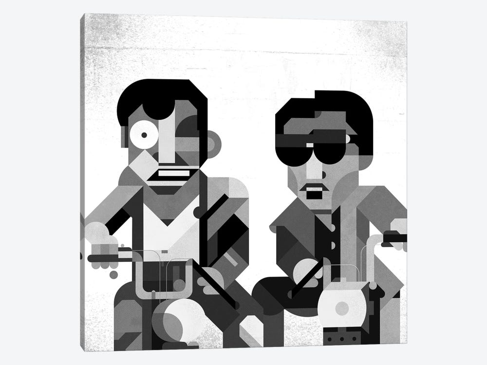 Boys On Mopeds by Antony Squizzato 1-piece Canvas Wall Art