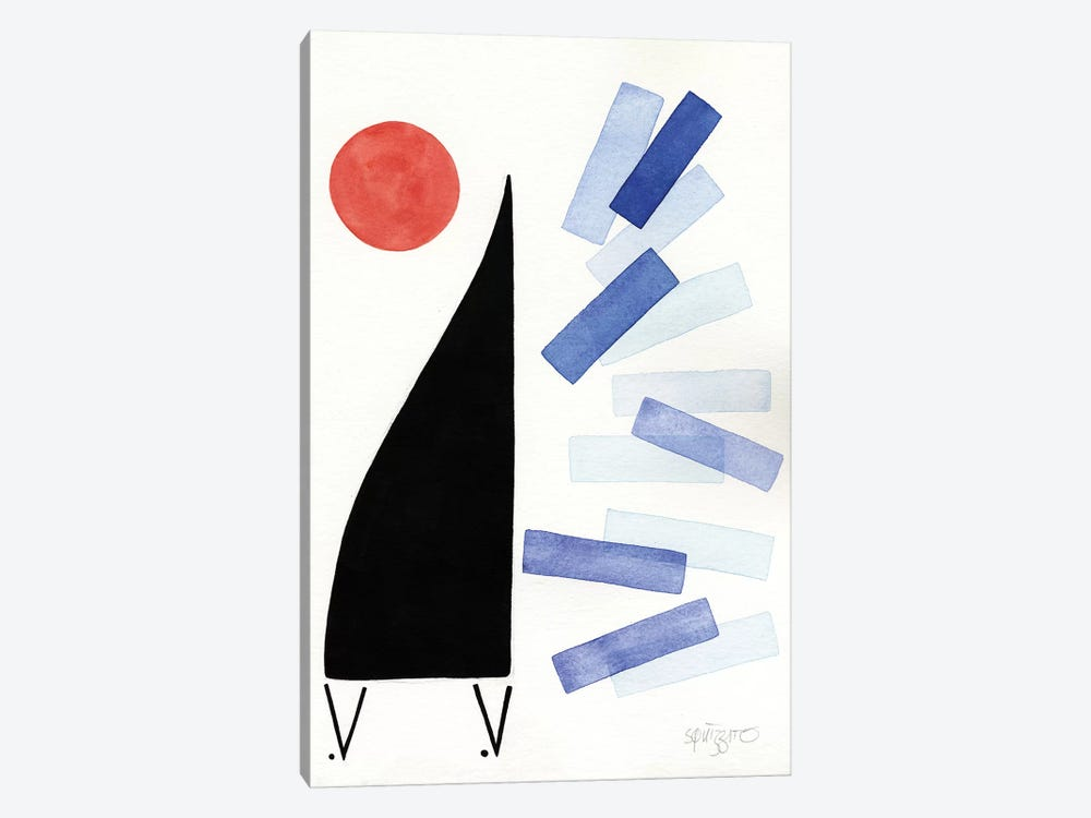 Free Jazz by Antony Squizzato 1-piece Canvas Print