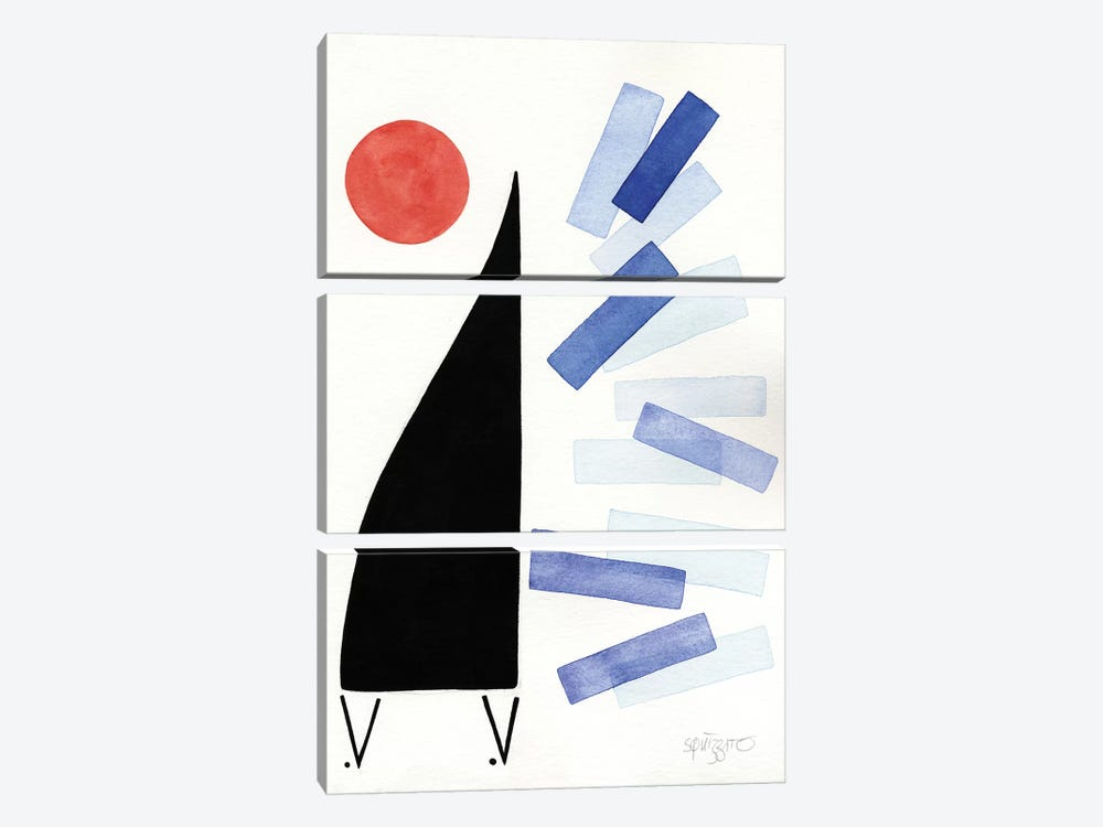 Free Jazz by Antony Squizzato 3-piece Canvas Print