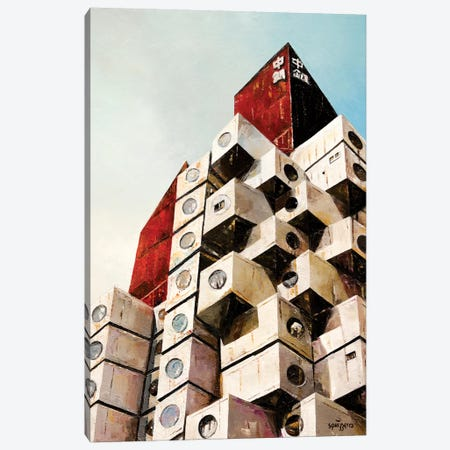 Nakagin Tower Canvas Print #ASQ60} by Antony Squizzato Canvas Art Print