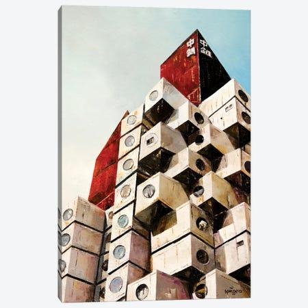 Nakagin Tower Canvas Print #ASQ60} by Antony Squizzato Canvas Art Print