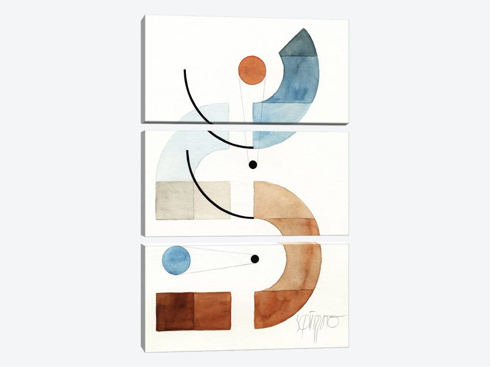 Openspaces XXX by Antony Squizzato 3-piece Canvas Wall Art