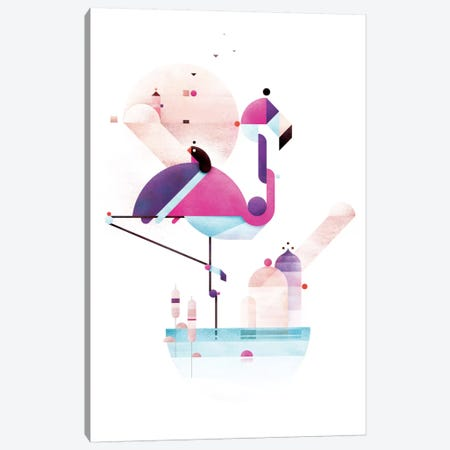 Placido Flamingo Canvas Print #ASQ6} by Antony Squizzato Canvas Art