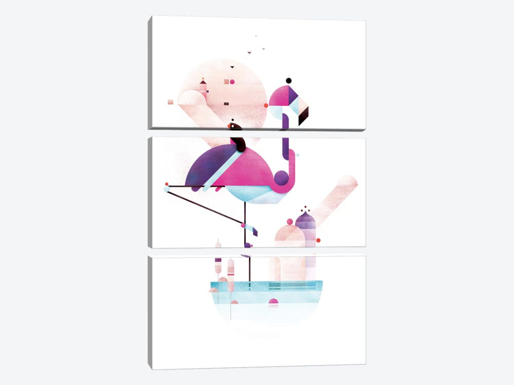 Placido Flamingo by Antony Squizzato 3-piece Art Print