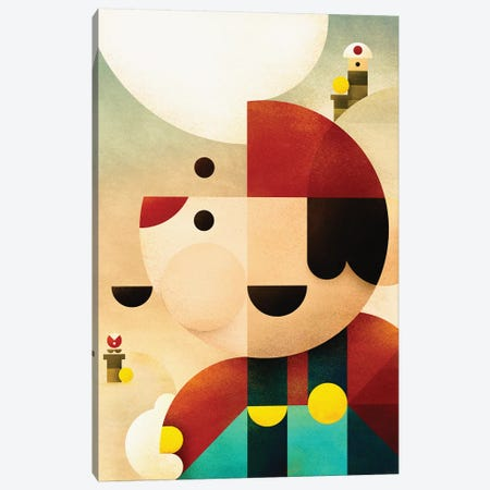 Super Mario Canvas Print #ASQ70} by Antony Squizzato Canvas Art
