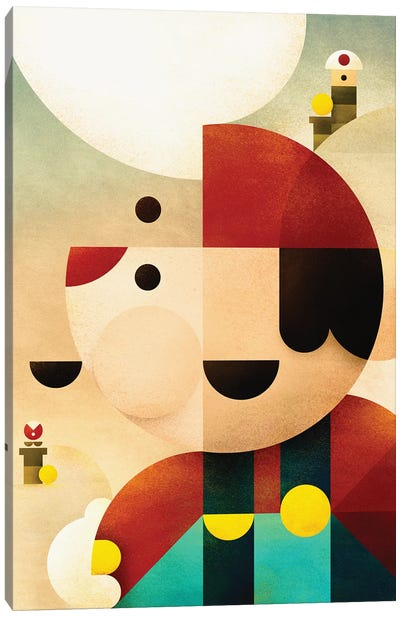 Super Mario Canvas Art Print