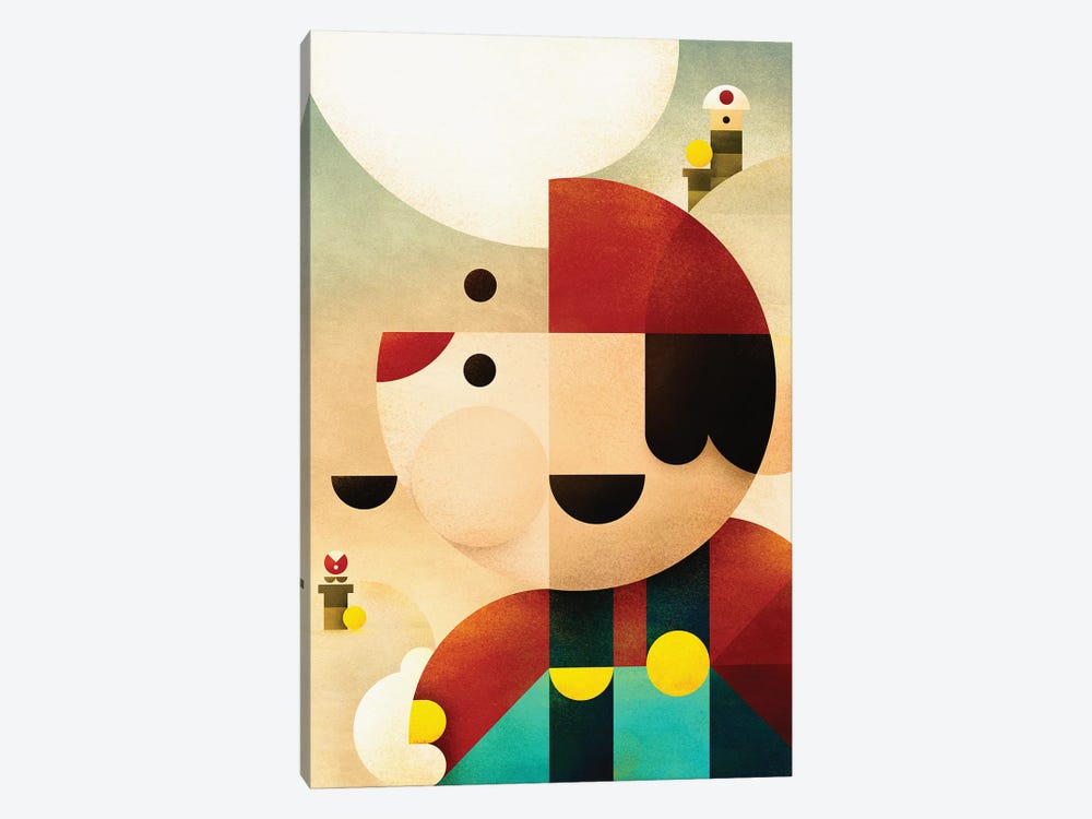 Super Mario by Antony Squizzato 1-piece Canvas Art Print