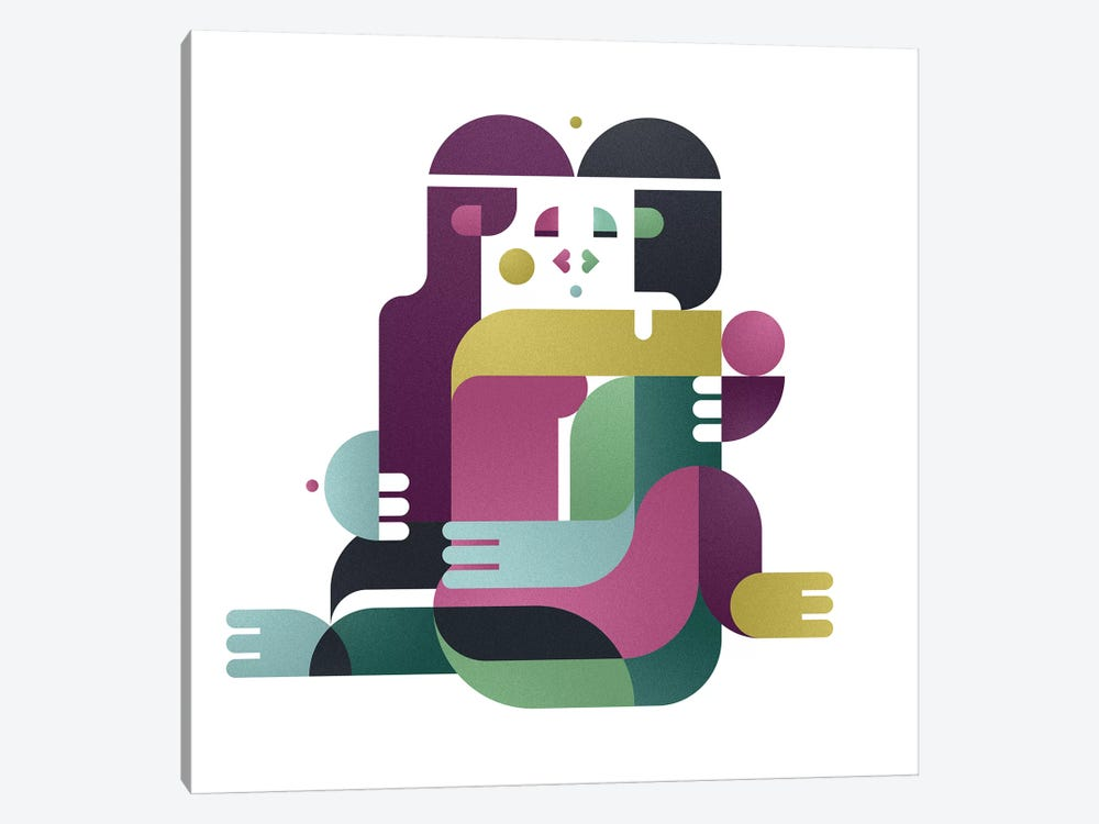 A Kiss, Face To Face by Antony Squizzato 1-piece Canvas Art Print