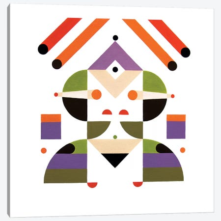 Abstract Girl Canvas Print #ASQ8} by Antony Squizzato Art Print