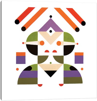 Abstract Girl Canvas Art Print