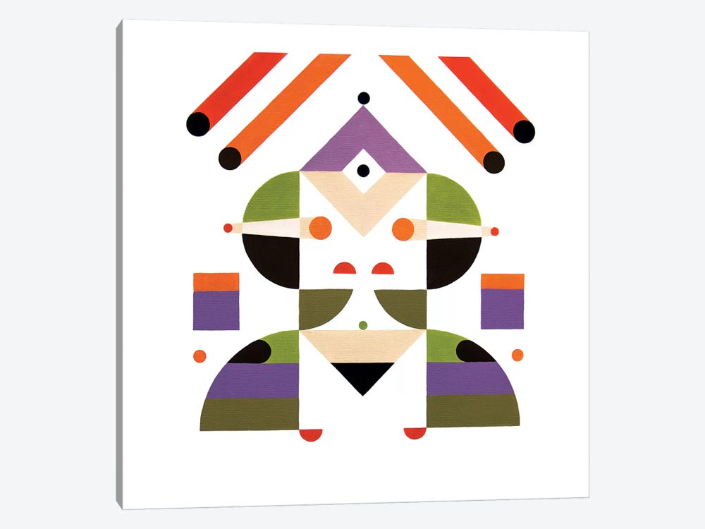 Abstract Girl by Antony Squizzato 1-piece Art Print