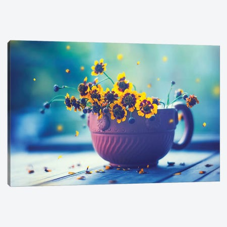 Happy Everyday Canvas Print #ASR11} by Ashraful Arefin Art Print