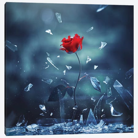 Love Shall Overcome Canvas Print #ASR19} by Ashraful Arefin Art Print