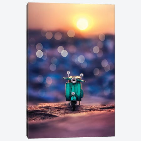 Somewhere In The Blue City Canvas Print #ASR25} by Ashraful Arefin Canvas Print