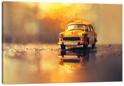 The Yellow Cab Canvas Art Print