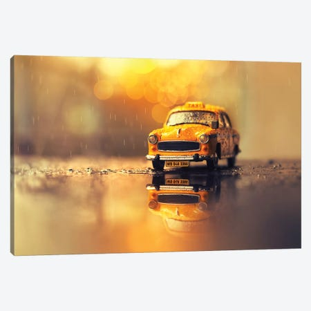 The Yellow Cab Canvas Print #ASR37} by Ashraful Arefin Canvas Artwork