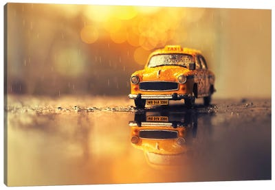 The Yellow Cab Canvas Art Print