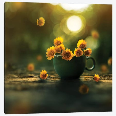 Cup Of Gold Canvas Print #ASR8} by Ashraful Arefin Canvas Art
