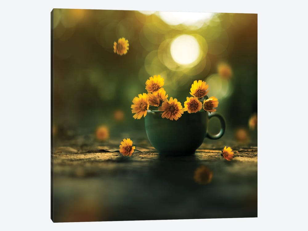 Cup Of Gold by Ashraful Arefin 1-piece Canvas Wall Art