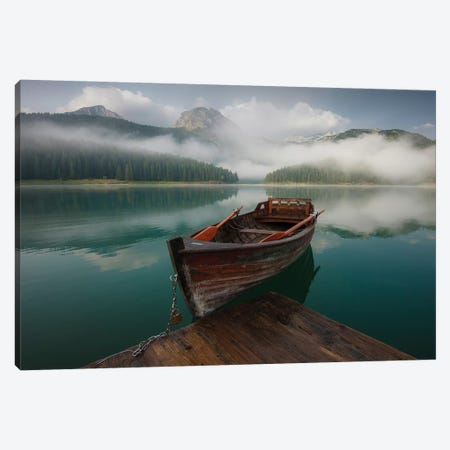 Black Lake Canvas Print #ASV3} by Anton Shvain Canvas Artwork