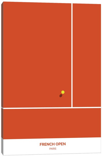 French Open Canvas Art Print