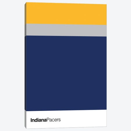 Indiana Pacers Basketball Canvas Print #ASX113} by avesix Canvas Art