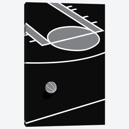 Basketball Court Black Canvas Print #ASX133} by avesix Canvas Art